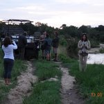 Sundowners at the days end by the river, try the bush mix.....