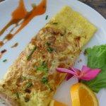 stylish omelet breakfast