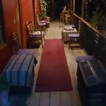 The verandah at night