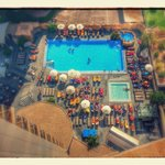 Pool area from 13th floor