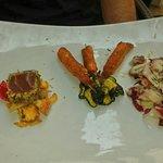 Warm seafood salad. Excellent!