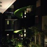 Spiral outdoor staircase