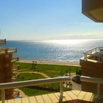 Vista desde el balcón hacia el mar