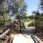 Ingresso giardino mediterraneo Torre del Cerrano
