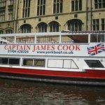 River tour boat opposite hotel