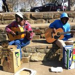 """Live """"entertainment"""" at the Howick Falls (have some small change on you!)"""