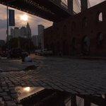 brooklin bridge al tramonto