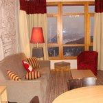 Salon vue sur le Mont Blanc