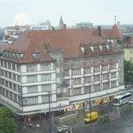from window - Munich station across road