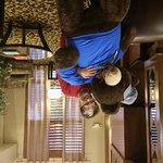 Giving Hank the Carson City teddy bear a morning hug