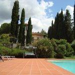 Pool Blick richtung Villa