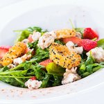 Spinach, Strawberry and Goats Cheese Salad