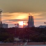 Sunset over north houston
