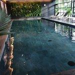 piscine chaufée et couverte