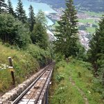 going up the funicular railway