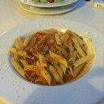 My pasta for dinner!