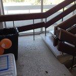 Treppenaufgang des 4 Sterne Hotels...