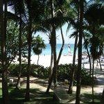 Vista do hotel para a praia