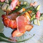 Homard breton dans le menu dégustation. Un vrai délice.....