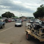 Lebombo border post juts 4 km away. Can get busy during holidays