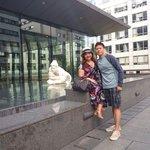 MraandMrsDG in front of Pullman Bercy hotel.