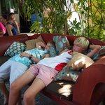 Boys relaxing