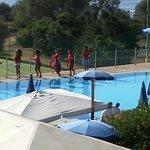 La piscina...
