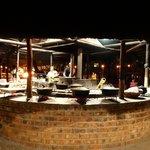 La cena serale nel grande Lapa