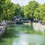 Canal saint Martin in the afternoon 5 minutes walk from the hotel