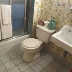 tiny, outdated bathroom, but it works.