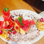 Amazing birthday fruit platter!