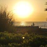 coucher de soleil vu de la terasse
