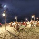 Night atmosphere on the beach
