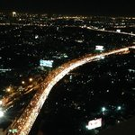 Amazing night view from room (with massive traffic jam!!!)