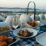 A feast for two with a stunning view
