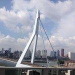 Nice view of city and bridge