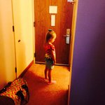 Daughter waiting to see her daddy