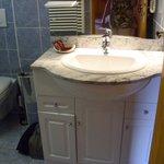 salle de bains avec douche et toilettes