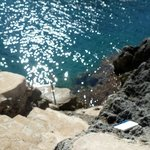 this is the beach platform where you can clime into water