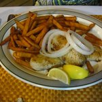 Grouper and sweet potato fries