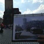 Prague Town Hall - Today and 1945