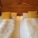 Twin beds, pushed together