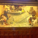 The 'Proclamation…AD 1556' mural