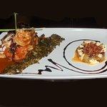 Kameron Mezcal - sauteed shrimp with mushrooms, flamed with Mezcal