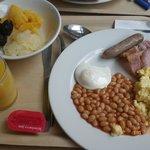 O pequeno almoço muito limitado em variedades