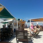 Beach bar, lovely gyros