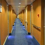 Los pasillos del Stena Line a las habitaciones.