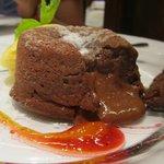 Inmejorable el coulant de chocolate con sal y aceite de oliva.