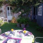giardino della colazione con davanti la camera!
