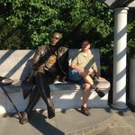 Sharing a moment with George Mason